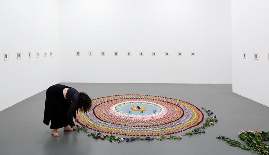 "The Rose Mirror Mandala (of three reflections for HHDL)"" in ""The Temptation of AA Bronson"", Witte de With Center for Contemporary Art, Rotterdam, Netherlands."